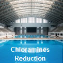 Chloramines destruction UV light